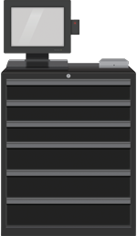SupplyScale 6 Drawer Main Unit